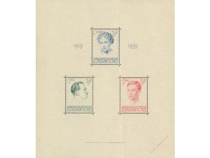 1939, 2-5Fr aršík, MiNr.Bl.3, **/* , skvrnky, přeloženo
