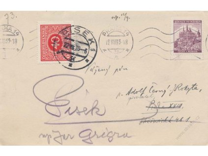1939, DR Praha 12.8.1939, zasl. v místě, dosíláno do Písku