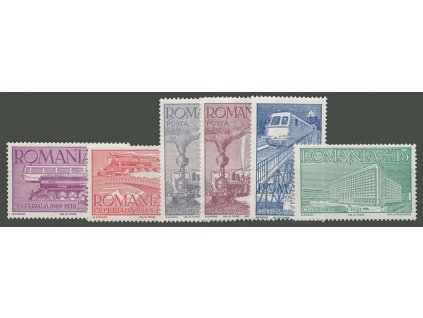 1939, 1-15L série Železnice, MiNr.609-14, **
