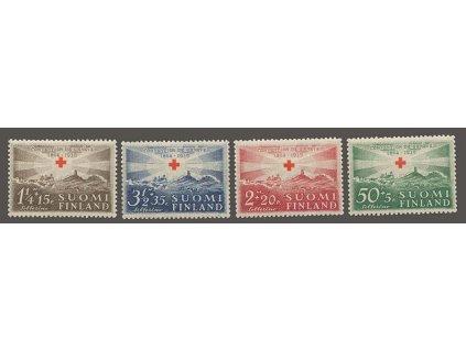 1939, 50P-3 1/2M série Červený kříž, MiNr.217-20, **