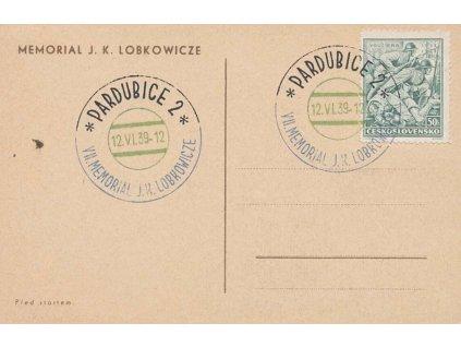 1939, Pardubce, VII. Memorial J.K.Lobkowicze 12.6.