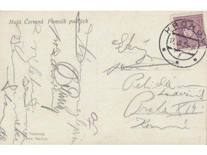 1939, DR Hronov 17.7., pohlednice zaslaná do Prahy