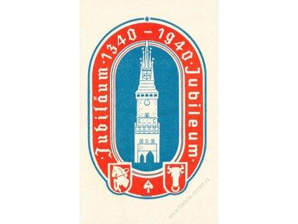 1940, Pardubice, 1340-1940, propagační pohlednice
