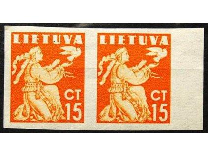Lietuva, 1940, 15C tmavěoranžová, **