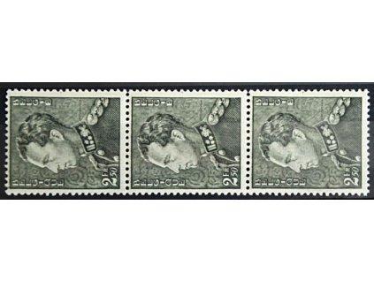 1940, 2.50Fr Leopold, 3páska, MiNr.528, **