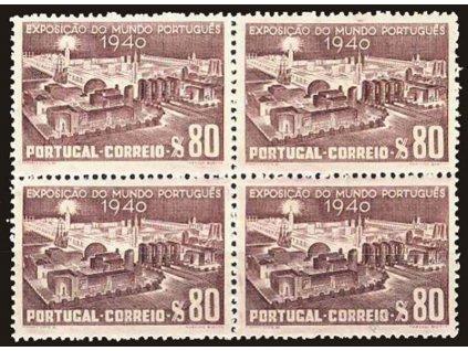 1940, 80C Výstaviště, 4blok, MiNr.619, **