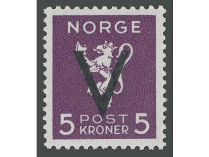 1941, 5Kr Victoria, MiNr.256, * po nálepce