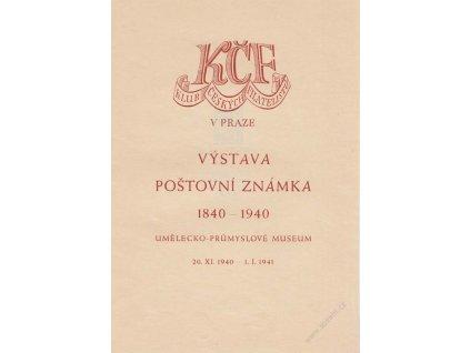 1940, Praha, Výročí známky 1840-1940, pamětní 2list, A5