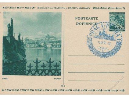 1940, Praha, Výstava spolků sběratelů, dopisnice, dv