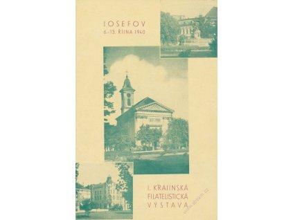 1940, Josefov, Výstava známek, pamětní 2list, A5, dv