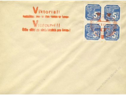 1941, Praha Viktoria, dopis, neprošlé, mírně zvlněno