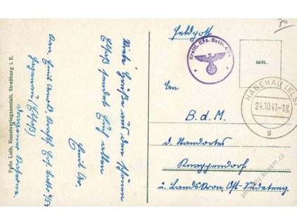 1941, DR Hagenau + útvarové, pohlednice