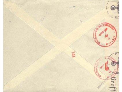 1941, DR Paris, firemní dopis zaslaný do Poděbrad