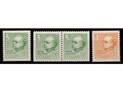1941, 5Ö-1Kr série Hazelius, MiNr.286-87, **