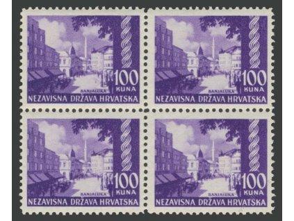 1941, 100K Banja Luka, 4blok, MiNr.65, **