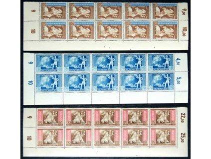 1942, 3-12Pf MiNr.823-5, ** , 10pásy