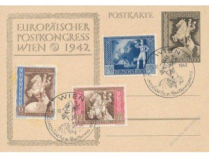 1942, Wien, Europanischen Postkongres, dopisnice, neprošlé