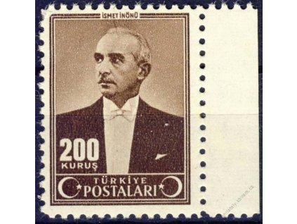 1942/43, 200K Ismet Inönü, MiNr.1132, * po nálepce