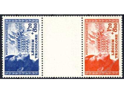 1942, 1.20Fr série Legie, meziarší, Nr.576-77, **