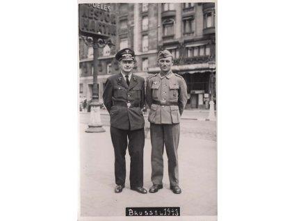 Feldpost, 1943, Brusel, skupinová pohlednice, neprošlé