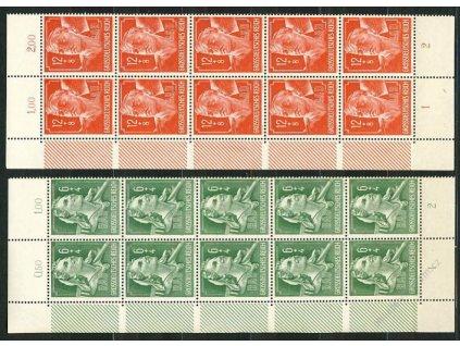 1944, 6-12Pf série, ** , 10pásy
