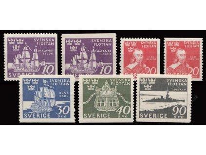 1944, 10-90Ö série Flotila, MiNr.306-10, * po nálepce