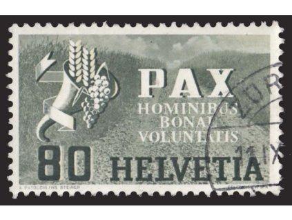 1945, 80C PAX, MiNr.454, razítkované