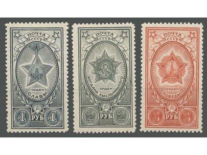 1945, 1-3R série Řády, MiNr.948-50, **
