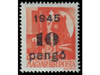 1945, 10P/2f oranžová, MiNr.814, **