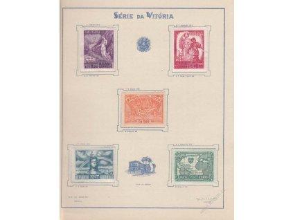 Brasílie, 1945, série MiNr.671-75, * po nálepce, skvrna