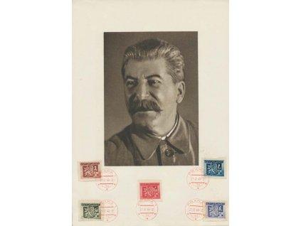 1945, Praha 21.5.1945, pamětní list Stalin, větší A5