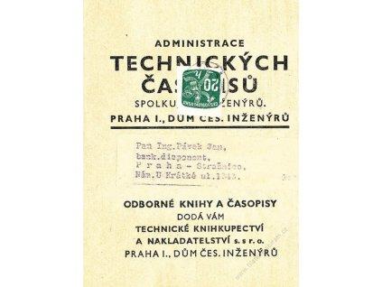 1946, DR Praha, novinová páska, stopy provozu