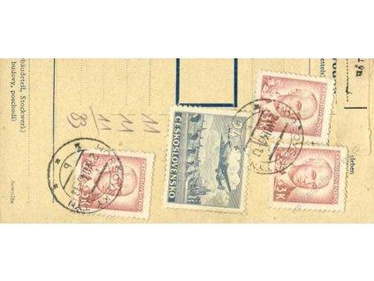 1946, DR Horšovský Týn, smíšená frankatura