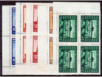 1946, 1/2-5Din série Kongres, 4bloky, **
