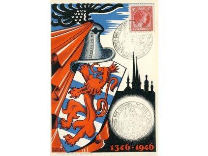 A- 1946, DR Luxembourg, propagační pohlednice, dv