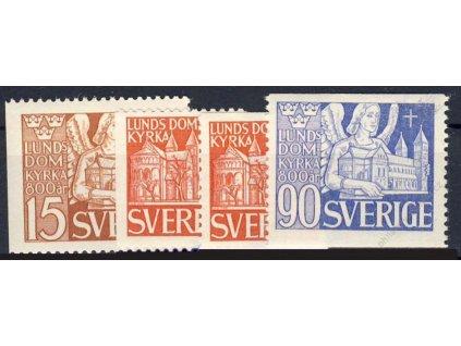 1946, 15-90Öre série, MiNr.318-20A,319D, **