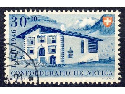 1946, 30C Budova, MiNr.474, razítkované