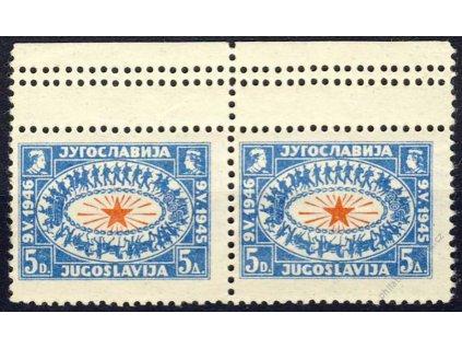 1946, 5Din Znak, trojité zoubkování, * po nálepce