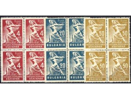 1946, 4-50L série Republika, 4bloky, **