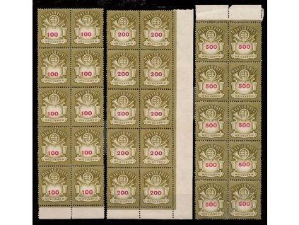 1946, 100-500 Milliárd P série, 10bloky, **