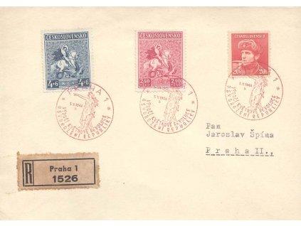 1946, FDC 433-34 Výročí květnového povstání, neohlášené vydání