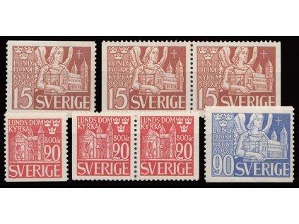 1946, 15-90Ö série Chrám, MiNr.318-20, **