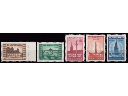 1946, 1/2-5Din série Kongres, MiNr.507-11, **