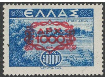 1946, 1000Dr/500000Dr modrá, MiNr.527, **