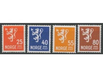 1946, 25-80Q série, MiNr.319-22, **