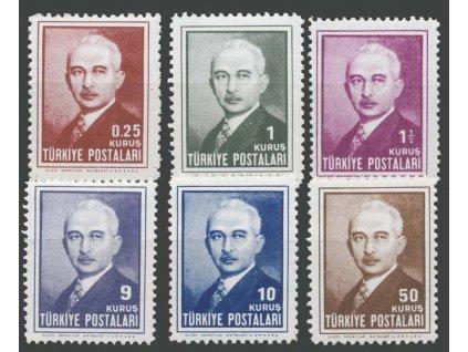 1946, 0.25-50K série, MiNr.1173-78, **