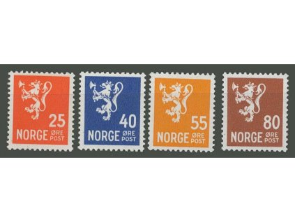1946, 25-80Q série Znak, MiNr.319-22, * po nálepce