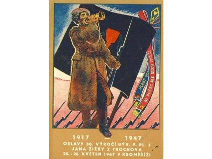 1947, Kroměříž, Oslavy p.pl.3 Jana Žižky,