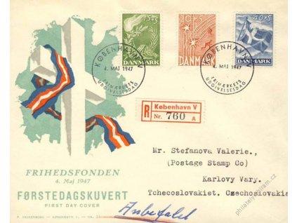1947, DR Kobenhavn, R-dopis, FDC