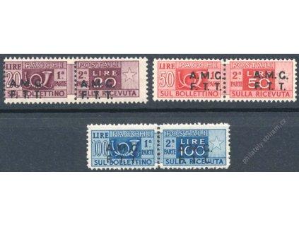 1947, 20, 50 a 100L Paketmarken, MiNr.7,8,9, */**